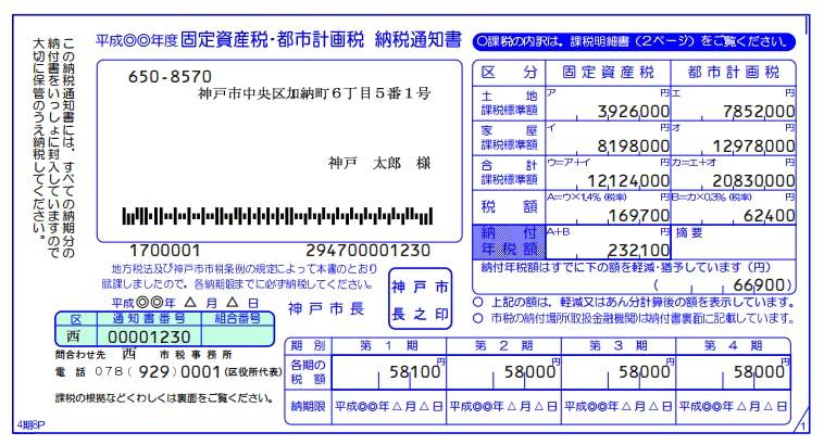 マンション売却必要書類固定資産税納税通知書