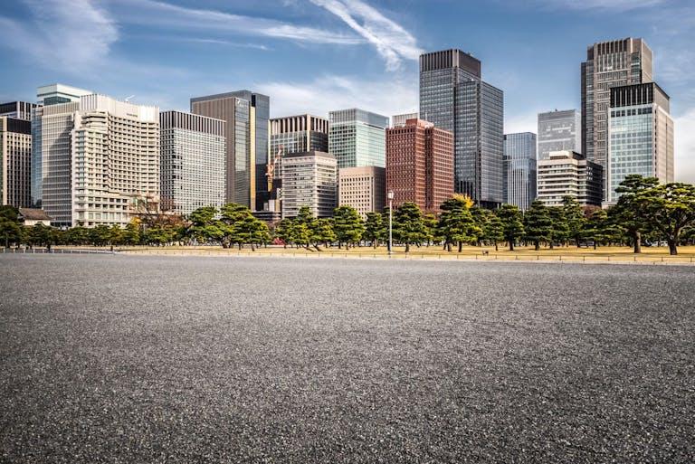 Empty Road in Tokyo