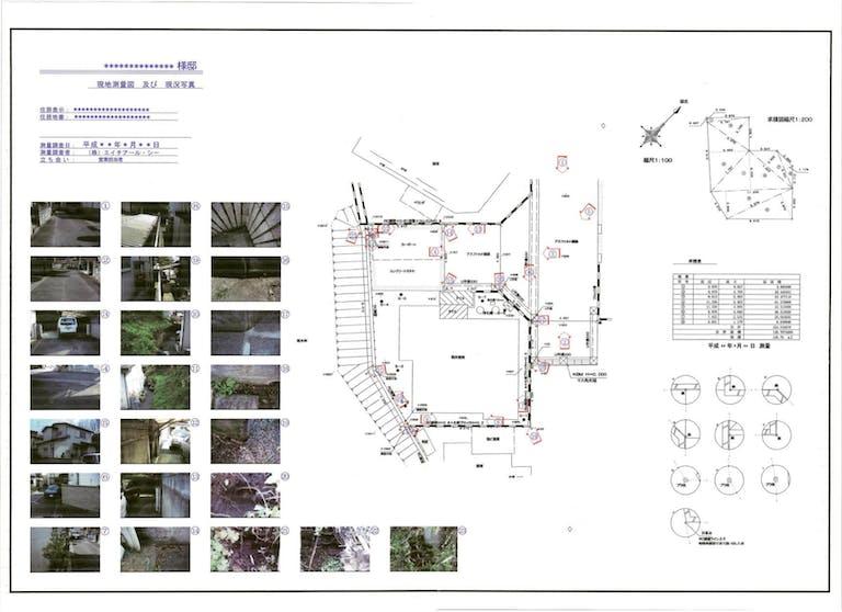 土地売却測量 現況測量図